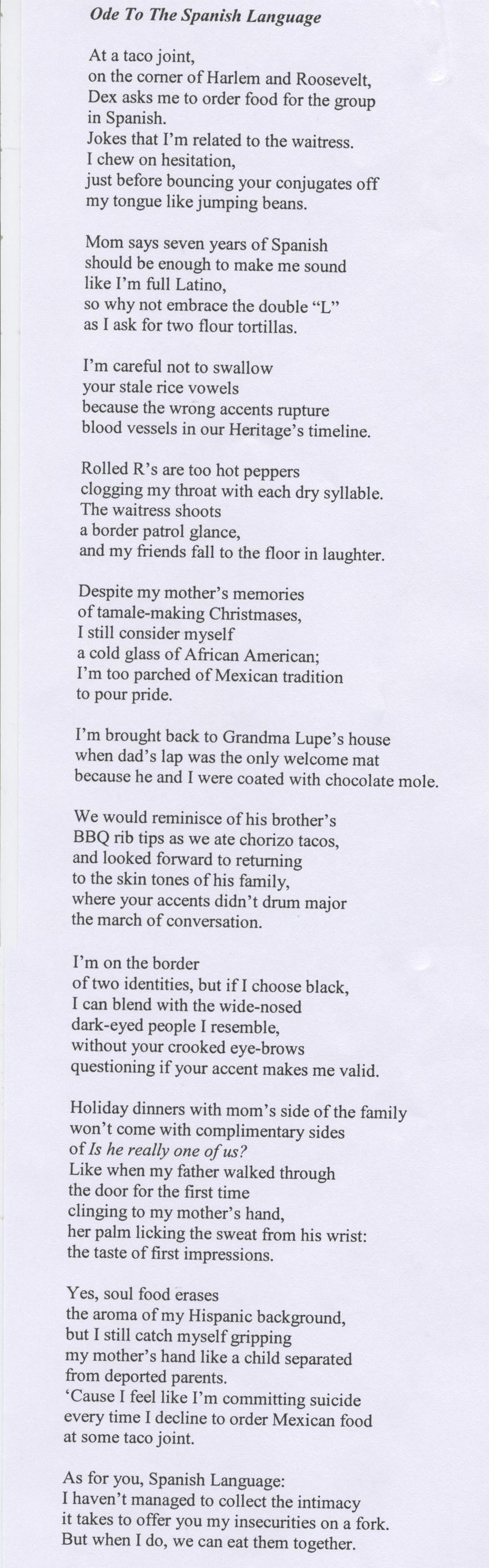 2011 Sarah Mook Poetry Prize